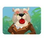 Bulldog Cartoon Vector Character AKA Baron Bulldog - Shape 1