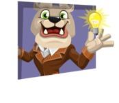 Bulldog Cartoon Vector Character AKA Baron Bulldog - Shape 3
