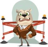 Bulldog Cartoon Vector Character AKA Baron Bulldog - Shape 10