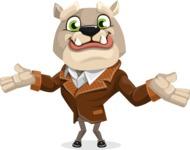Bulldog Cartoon Vector Character AKA Baron Bulldog - Sorry