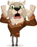 Bulldog Cartoon Vector Character AKA Baron Bulldog - Shocked