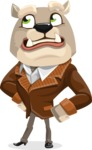 Bulldog Cartoon Vector Character AKA Baron Bulldog - Roll Eyes