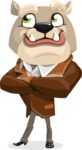 Bulldog Cartoon Vector Character AKA Baron Bulldog - Petient