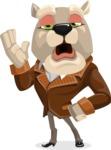Bulldog Cartoon Vector Character AKA Baron Bulldog - Bored 2