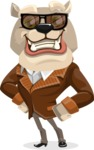 Bulldog Cartoon Vector Character AKA Baron Bulldog - Sunglasses