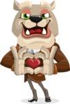 Bulldog Cartoon Vector Character AKA Baron Bulldog - Show Love