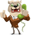 Bulldog Cartoon Vector Character AKA Baron Bulldog - Support