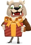 Bulldog Cartoon Vector Character AKA Baron Bulldog - Gift