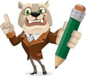 Bulldog Cartoon Vector Character AKA Baron Bulldog - Pencil