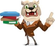 Bulldog Cartoon Vector Character AKA Baron Bulldog - Book 2