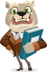 Bulldog Cartoon Vector Character AKA Baron Bulldog - Book 3