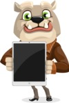 Bulldog Cartoon Vector Character AKA Baron Bulldog - iPad 1