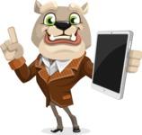 Bulldog Cartoon Vector Character AKA Baron Bulldog - iPad 3
