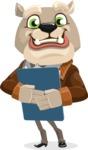 Bulldog Cartoon Vector Character AKA Baron Bulldog - Notepad 2