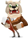 Bulldog Cartoon Vector Character AKA Baron Bulldog - Notepad 3