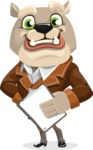 Bulldog Cartoon Vector Character AKA Baron Bulldog - Notepad 4