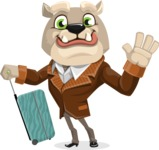 Bulldog Cartoon Vector Character AKA Baron Bulldog - Travel 1