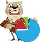 Bulldog Cartoon Vector Character AKA Baron Bulldog - Chart