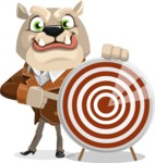 Bulldog Cartoon Vector Character AKA Baron Bulldog - Target