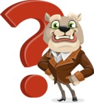 Bulldog Cartoon Vector Character AKA Baron Bulldog - Question