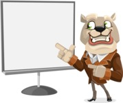 Bulldog Cartoon Vector Character AKA Baron Bulldog - Presentation 2