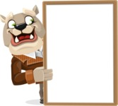 Bulldog Cartoon Vector Character AKA Baron Bulldog - Presentation 4