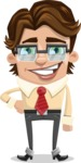 Entrepreneur Man Cartoon Vector Character AKA Clark Executive - Normal