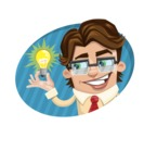 Entrepreneur Man Cartoon Vector Character AKA Clark Executive - shape4