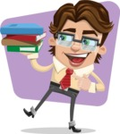 Entrepreneur Man Cartoon Vector Character AKA Clark Executive - shape7