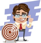 Entrepreneur Man Cartoon Vector Character AKA Clark Executive - shape9