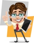 Entrepreneur Man Cartoon Vector Character AKA Clark Executive - shape10