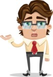 Entrepreneur Man Cartoon Vector Character AKA Clark Executive - Sorry