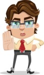 Entrepreneur Man Cartoon Vector Character AKA Clark Executive - Stop