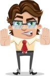Entrepreneur Man Cartoon Vector Character AKA Clark Executive - Stop 2