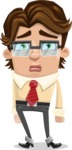 Entrepreneur Man Cartoon Vector Character AKA Clark Executive - Sad