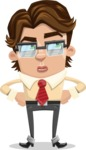 Entrepreneur Man Cartoon Vector Character AKA Clark Executive - Roll Eyes
