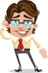 Entrepreneur Man Cartoon Vector Character AKA Clark Executive - Oops