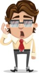Entrepreneur Man Cartoon Vector Character AKA Clark Executive - Bored