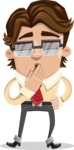Entrepreneur Man Cartoon Vector Character AKA Clark Executive - Bored 2