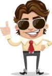 Entrepreneur Man Cartoon Vector Character AKA Clark Executive - Sunglasses