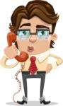 Entrepreneur Man Cartoon Vector Character AKA Clark Executive - Support