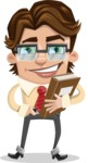 Entrepreneur Man Cartoon Vector Character AKA Clark Executive - Book 3