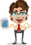 Entrepreneur Man Cartoon Vector Character AKA Clark Executive - iPhone