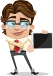 Entrepreneur Man Cartoon Vector Character AKA Clark Executive - iPad 2