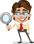 Entrepreneur Man Cartoon Vector Character AKA Clark Executive - Office Fever
