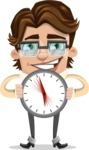 Entrepreneur Man Cartoon Vector Character AKA Clark Executive - Time is Yours