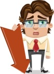 Entrepreneur Man Cartoon Vector Character AKA Clark Executive - Pointer 3