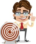 Entrepreneur Man Cartoon Vector Character AKA Clark Executive - Target