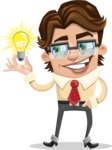 Entrepreneur Man Cartoon Vector Character AKA Clark Executive - Idea 1