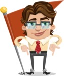 Entrepreneur Man Cartoon Vector Character AKA Clark Executive - Checkpoint